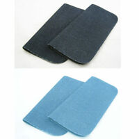 2 New Blue Somore Iron On Denim Patches Jean Fabric Repair Iron On Applique