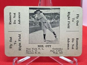1936 S&S Game Set Break Mel Ott