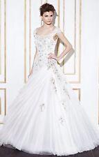 "Blue by Enzoani ""Gamba"" Size 10 Ivory/Pewter Wedding Dress"