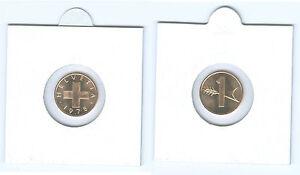 Suisse 1 Centime Pièce de Monnaie De KMS (Choisissez Entre : 1974 - 2006)
