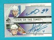 2006-07 Sp Authentic ANZE KOPITAR / FROLOV SIGN OF THE TIMES DUAL AUTO #ST-FK