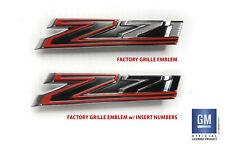 2019 20 Chevy Silverado RST Trail Boss LT Z71 Grille Emblem Insert Numbers 7 & 1
