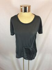 Women's Only Collection Navy/Gray Loose Fitting Feather Sheer T-Shirt Sz XS