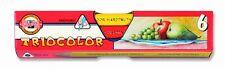 KOH-I-NOOR TRICOLOUR COLOURED PENCILS - Pack of 6 Assorted Colour Pencils
