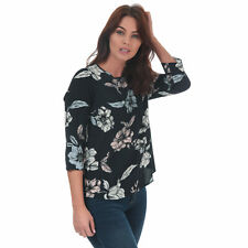Womens Only Nova Lux Flora 3 Quarter Sleeve Top In Night Sky