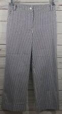 ST. JOHN Navy and White Striped Cropped Capri Pants Women's Size 6 Yellow Label