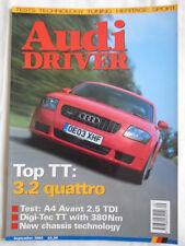 Audi Driver Sep 2003 TT 3.2 quattro, A4 Avant 2.5 TDi