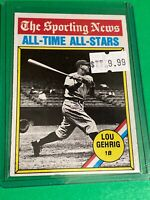 🔥 1976 Topps Baseball Card Set #341 🔥SPORTING NEWS ALL-STARS 🔥 LOU GEHRIG