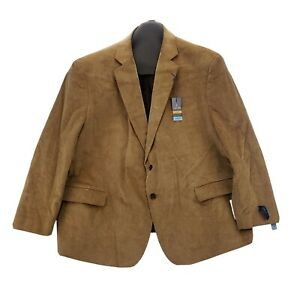 NEW Stafford Big & Tall 56 S Mens Sport Coat Corduroy Comfort Stretch Wheat