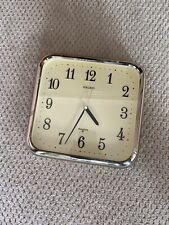 Vintage SEIKO Quartz Wall Clock Model QXA016 Gold Tone Square ~Works