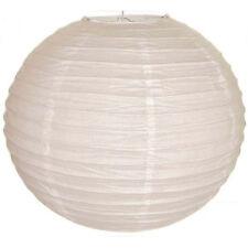"White Chinese/Japanese Paper Lantern/Lamp 8"" Diameter"