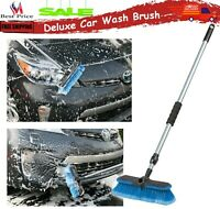 Car Washing Brush Long Handle Extension Pole Super Soft Head For Truck SUVs RVs