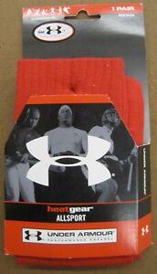UA Under Armour Heatgear OTC All Sport RED Socks Small / YL (10 - 6.5) 2 Pairs