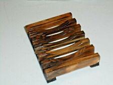 Hawaiian Style Natural Wood Soap Dish NEW Bathroom Decor Accessory