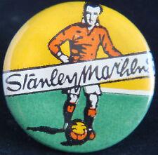 Sir STANLEY MATTHEWS BLACKPOOL Legend Very rare vintage button badge 25mm Dia