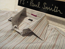 "PAUL SMITH Mens Shirt 🌍 Size 16"" (CHEST 44"") 🌎  RRP £95+ 🌏 SURPERBLY STRIPED"