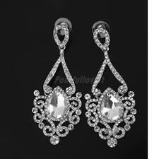 Women Lady Vintage Rhinestone Drop Dangle Ear Studs Eardrop Earrings Jewelry