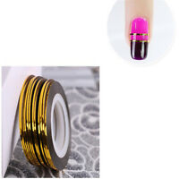 Colourful Thin Striping Tape Line Sticker Roll Nail Art Decoration DIY Stickers