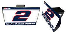 NASCAR #2 Brad Keselowski Metal Trailer Hitch Cover-NASCAR Hitch Cover