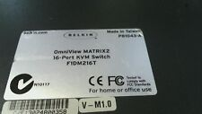 Belkin Omniview MATRIX 2 16 Port KVM Switch F1DM216T P81043-A