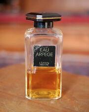 Vintage Lanvin Eau Arpege Perfume 3.3oz 100ml 40% Full Art Deco Bakelite Stopper
