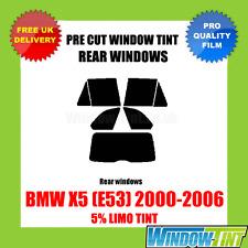BMW X5 (E53) 2000-2006 5% LIMO REAR PRE CUT WINDOW TINT
