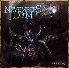 NOVEMBERS DOOM Aphotic Ltd Ed Signed By All 5 RARE CD Booklet! Death Doom Metal