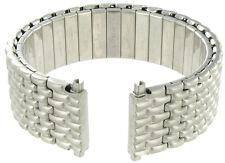 18-22mm Speidel  Twist-O-Flex Silver Tone Matte Finish Mens Watch Band Long 1256