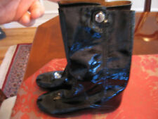 NEW MARC JACOBS CRINKLED PATENT LEATHER BOOTS IN BOX - SIZE 6 1/2