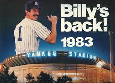 1983-84 New York Yankees Team Calendar: Billy Martin