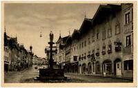 BAD TÖLZ Bayern ~1925 Strassen Partie mit Farbwaren Geschäft i.d. Marktstrasse