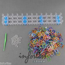Telar gomas pulseras + 600 gomas de colores - krazy loom bands - manualidades