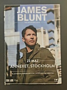 JAMES BLUNT!!! CONCERT POSTER 23RD OF MAY 2018!! GREAT TWITTER MAN!!