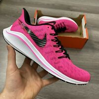 WOMENS NIKE AIR ZOOM VOMERO 14 PINK RUNNING TRAINERS SHOE UK4.5 US7 EUR38