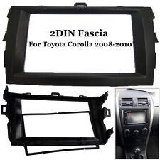 2DIN Fascia Radio Stereo DVD Frame Panel Dash Kit For Toyota Corolla 2008-2010