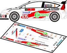 Décals 1//43ème J.M Cuoq Citroën C4 WRC Rallye de la Réunion 2017