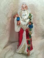 "Mercury Glass Santa Table Top Midwest of Cannon Falls Christmas Decor 12"" Large"