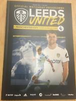 RARE MINT 2020/21 Leeds United vs MANCHESTER CITY Programme 3/10 Premier League