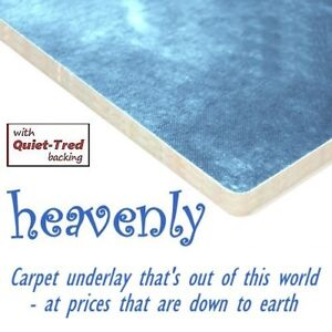 Heavenly carpet underlay Standard, High & Ultra High Density from 8 - 12mm thick