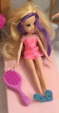 Moxie Girlz Fashion Surprise Avery Doll Purple Streaks Pink Dress