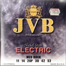 """JVB"" Brand, 11-52 Medium Rock GAUGE STRINGS SET, MADE in USA, NEW"