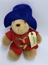 Eden Paddington Bear Plush Stuffed Animal Red Blue Felt Hat Jacket