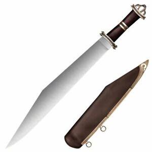"COLD STEEL Damascus Long Sax SWORD, Damascus STEEL, 6 1/2"" HANDLES 88HVA"