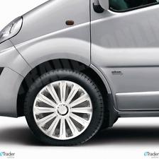 "16"" Vauxhall Vivaro Van Wheel Trims Hubcaps Trim X4 Cap Covers Silver Quality"
