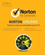 Norton Utilities v16.0 2017 - 3 PCs (Computers), 1 Year - DOWNLOAD