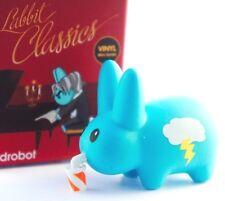"Kidrobot Kozik Mini Labbit Classics 1.5"" Cloud Lightning Soda Pop Storm Blue Art"
