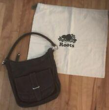 Vintage Roots Bag Black Shoulder Bag  Leathereirh Dust Bag