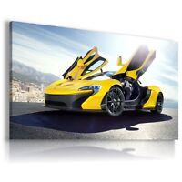 MCLAREN P1 YELLOW Sports Car Large Wall Art Canvas Picture  AU37 MATAGA