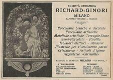 Z0761 Società Ceramica Richard-Ginori - Pubblicità del 1925 - Advertising