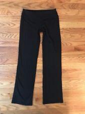 Lululemon Black Groove Wunder Under Yoga Jogging Straight Boot Pant Women Size 4